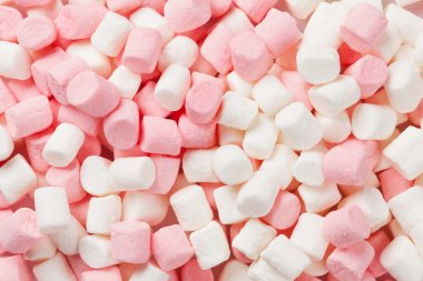 Colorful marshmallows texture