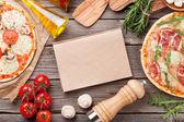 Pizza s prosciuttem a rajčaty