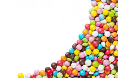 Colorful candies. Isolated