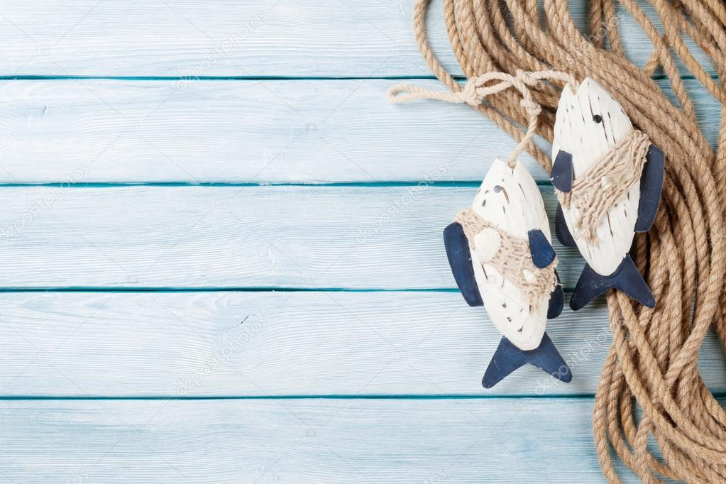 Arredamento Con Corda : Corda di arredamento e barca di pesce u2014 foto stock © karandaev