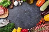 Zelenina, ryby a maso vaření