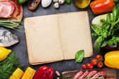 Photo Cookbook with vegetables, fish and meat