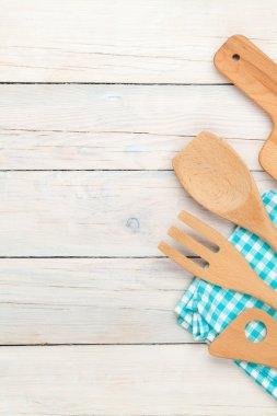 Kitchen utensil on wooden table