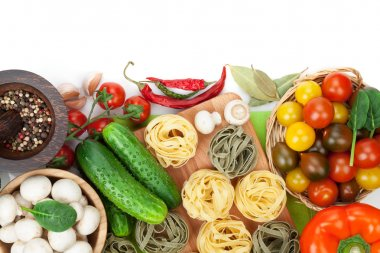 Fresh ingredients for cooking