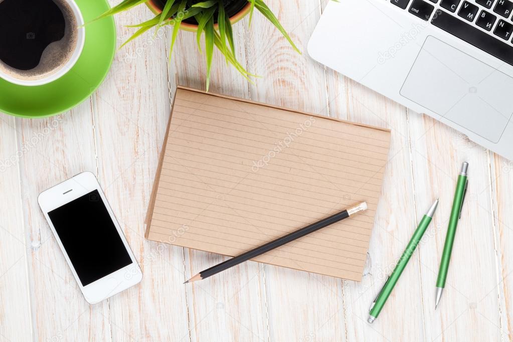 Arbeitsplatz büro schreibtisch Schreibtisch Tisch, Arbeitsplatz — Stockfoto #66385033