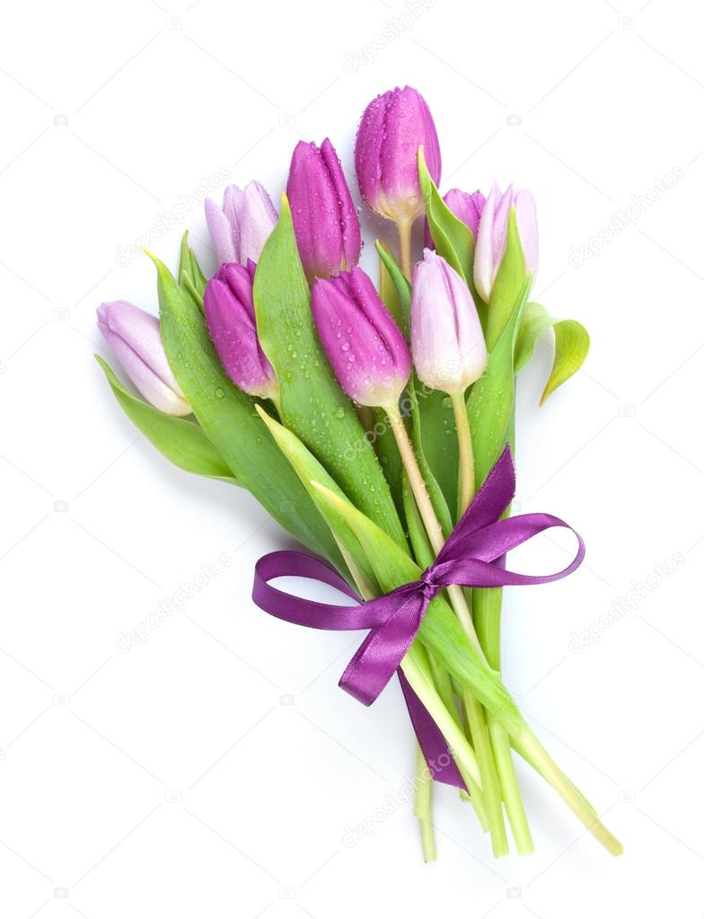 lila tulpen strau stockfoto karandaev 67612149. Black Bedroom Furniture Sets. Home Design Ideas