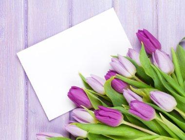 Purple tulips bouquet
