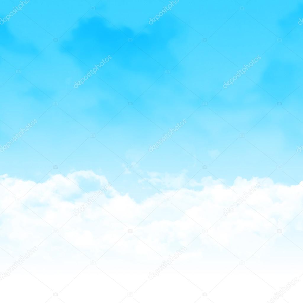 青い空と雲の抽象的なイラスト — ストック写真 © karandaev #75526947