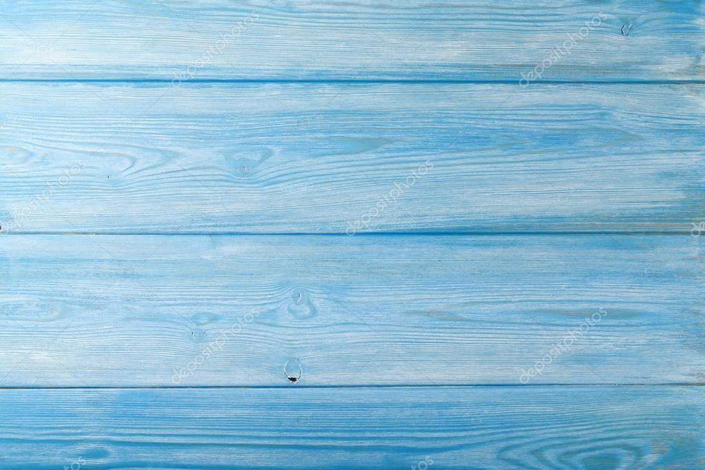 Country blue wooden table background — stock photo