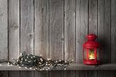 Fotografie Vánoční svíčka Lucerna a světla