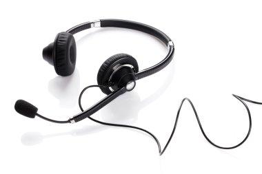 Helpdesk headset Isolated