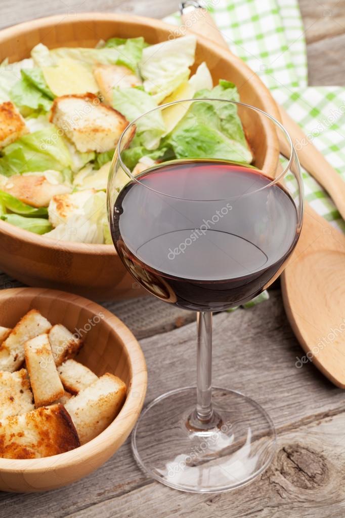 Салаты для красного вина