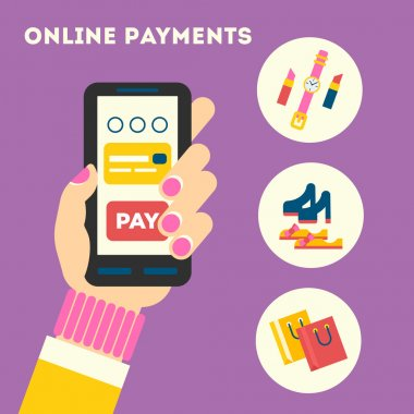 The concept for mobile online internet payments