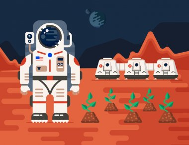 mars colonization with the trees