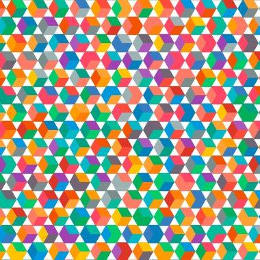 Multicolored square bacground