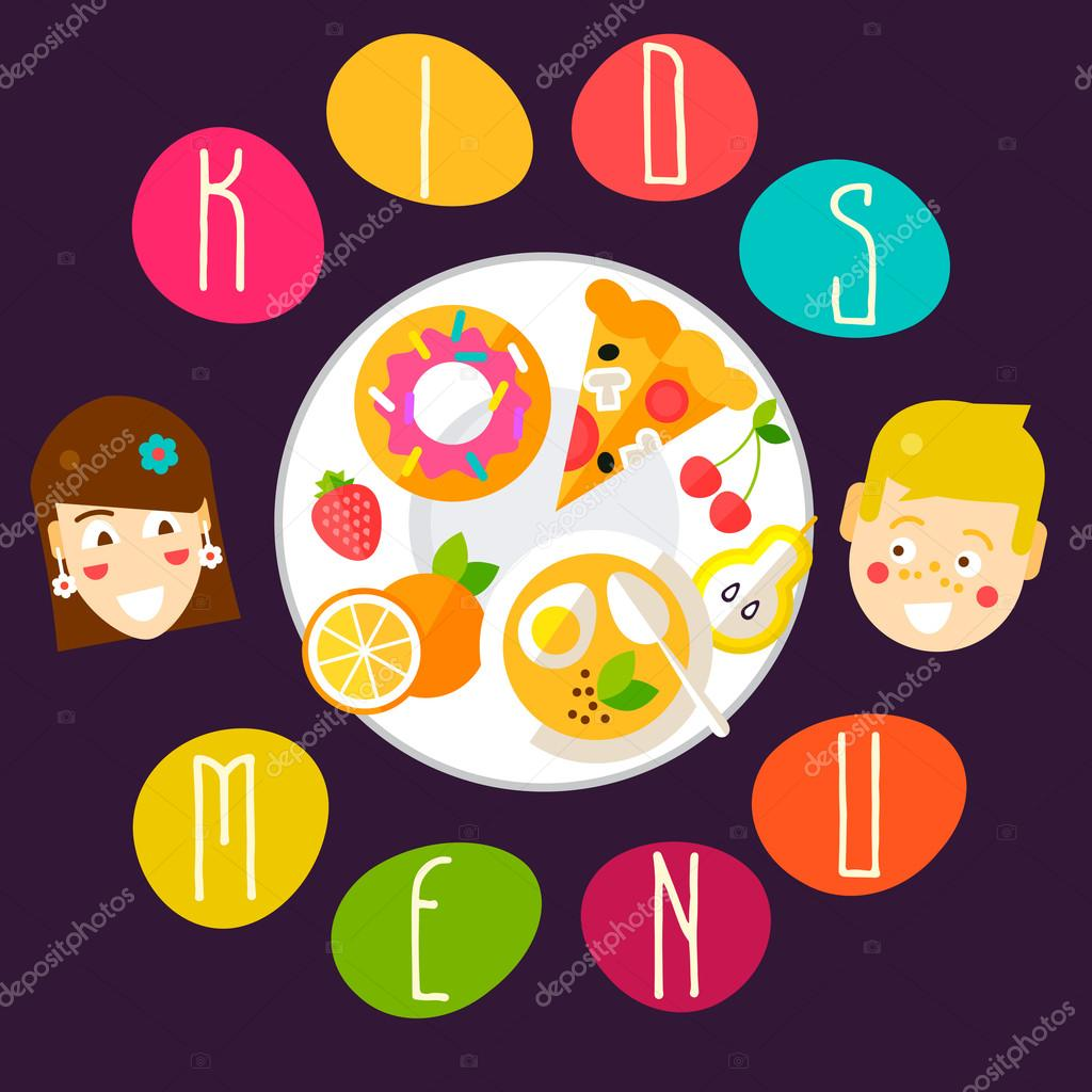 funny kids menu template stock vector zodchiy 82150330