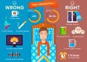 Fényképek Infographic aludni