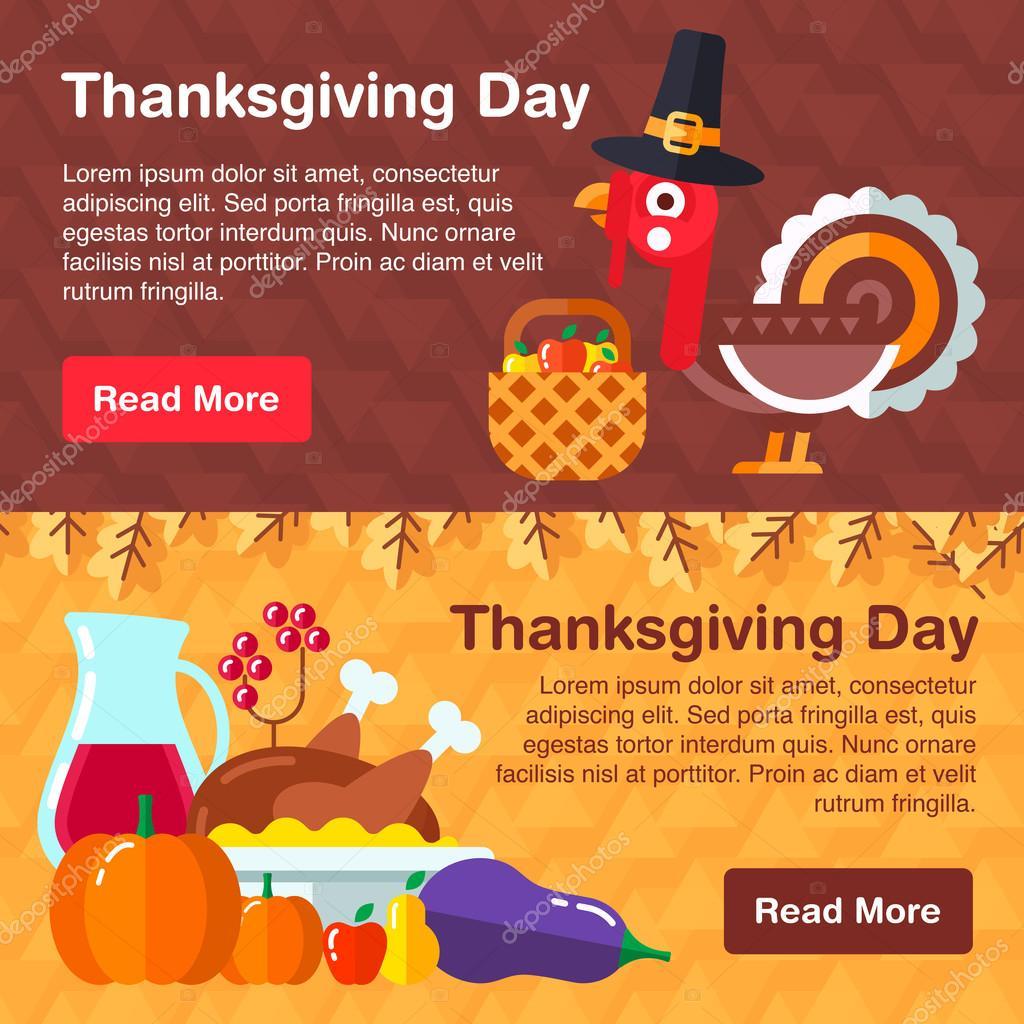 Ensemble de bannières colorées pour Thanksgiving 40