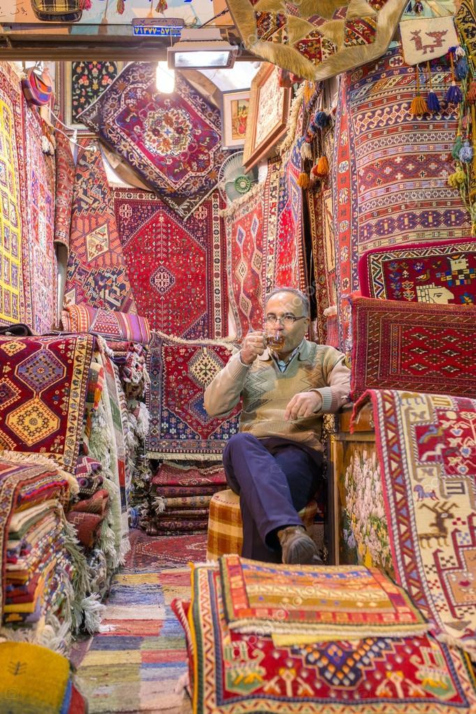 Magasin De Tapis A Bazar Vakil Shiraz Photo Editoriale C Mazzzur