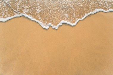 "Картина, постер, плакат, фотообои ""волна на песчаном пляже "", артикул 68568027"