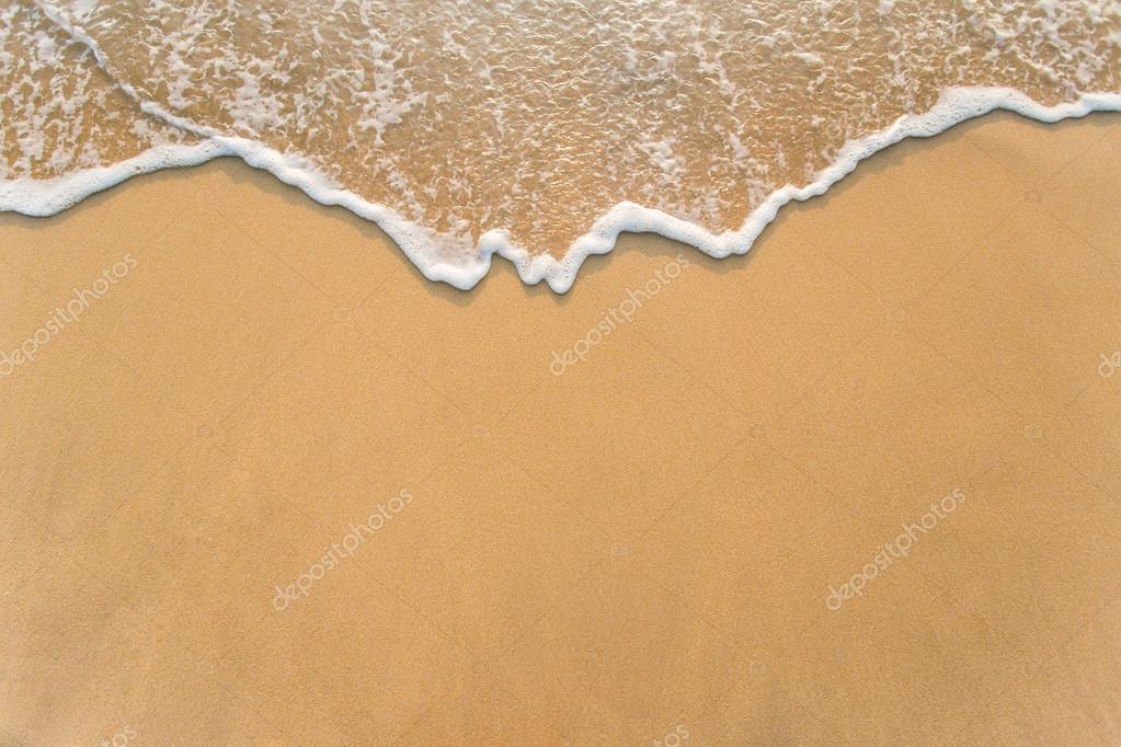 Wave on sand beach