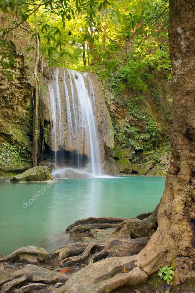 Beautiful Erawan Waterfall