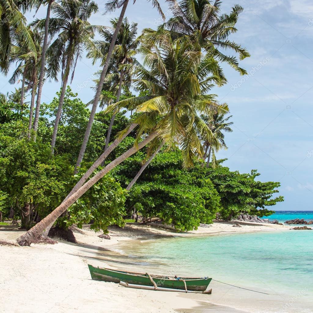 Boat On Tropical Beach On Karimunjawa Stockfoto C Mazzzur 87577582