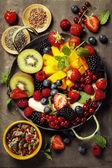 friss gyümölcsök és bogyók, lemez