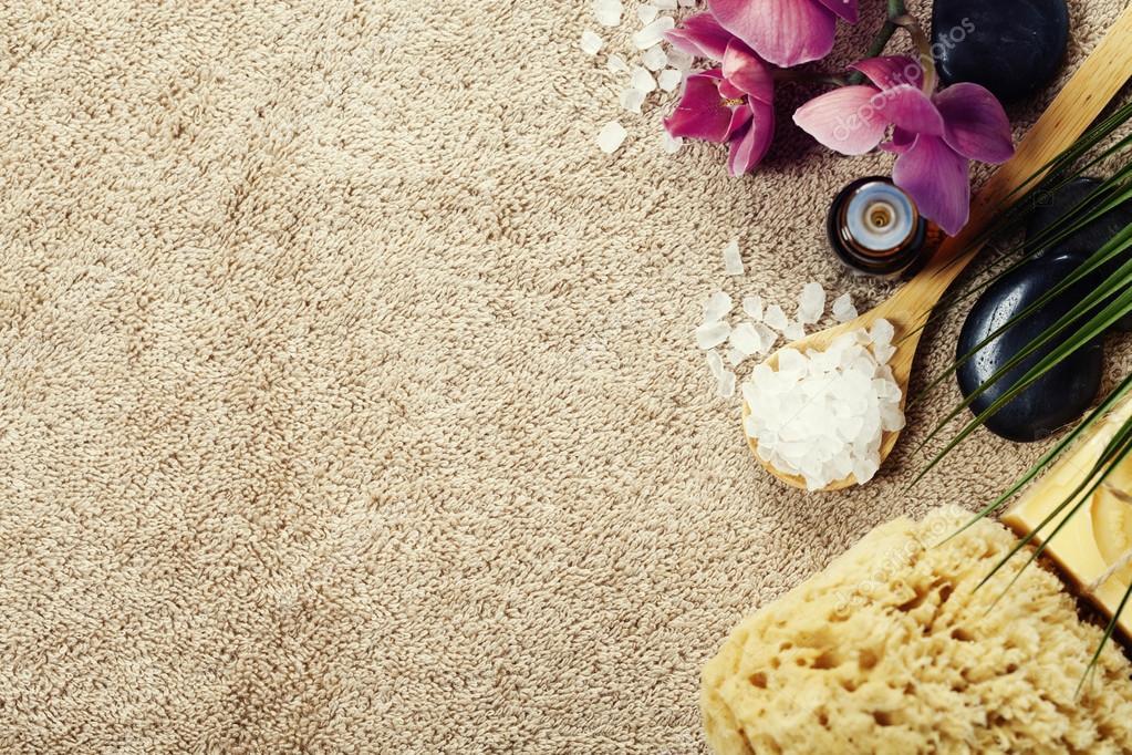 spa background on towel stock photo klenova 94836570