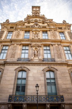 Facade of traditional building in Paris