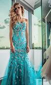 Fotografie Elegantní mladá žena v luxusních šatech