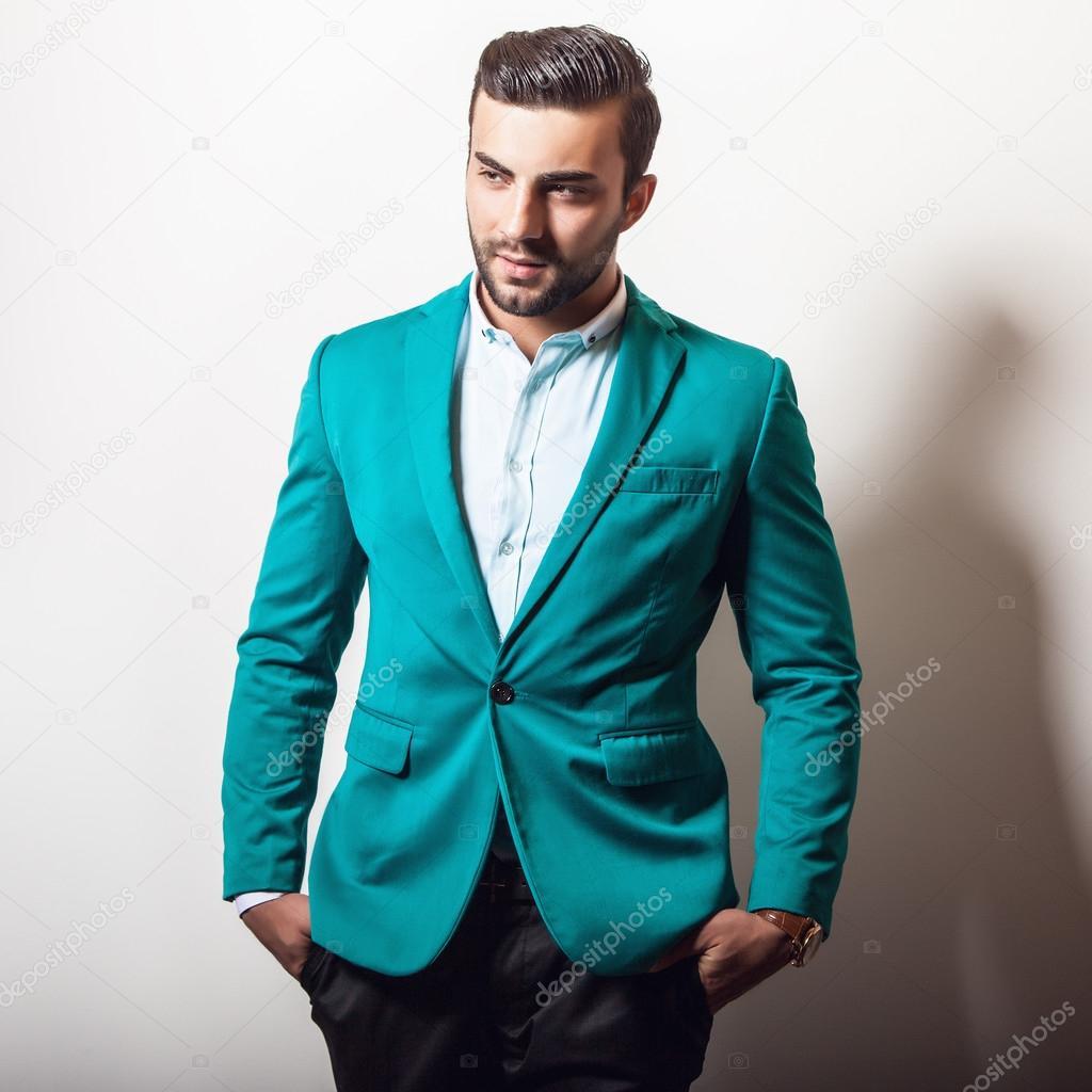 elegante in Uomo giacca elegante bello fqwnSzn5R