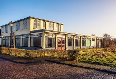 Old empty building in Giethoorn, Netherlands.