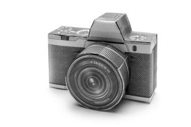 Camera dslr on white