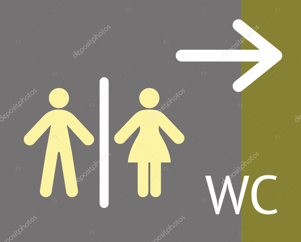 cartello WC o bagno — Vettoriali Stock © portokalis #62425989