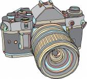 Vintage staré fotografie fotoaparát