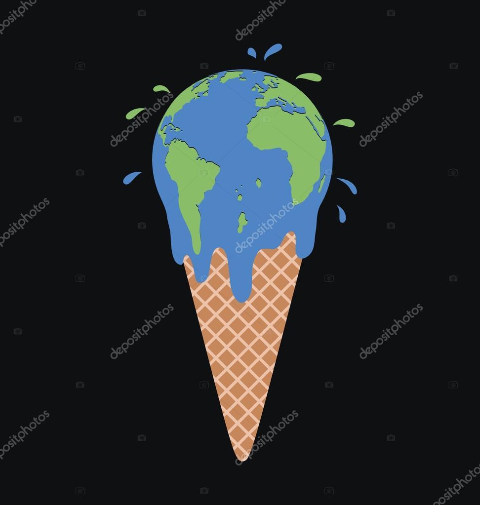 ice cream earth globe