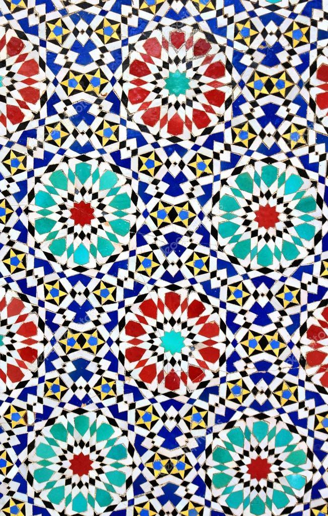 Bunte Mosaik Fliese Design Auf Eine Marokkanische Wand U2014 Foto Von Gvictoria