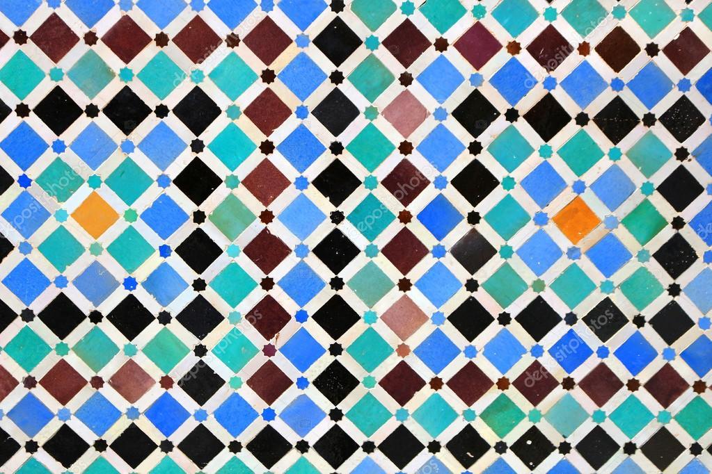 Charmant Bunte Mosaik Fliese Design Auf Eine Marokkanische Wand U2014 Foto Von Gvictoria