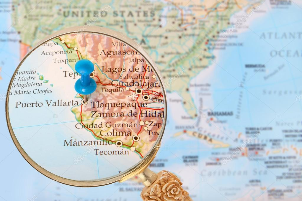 Puerto Vallarta World Map.Looking In On Puerto Vallarta Mexico Stock Photo C Gvictoria
