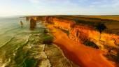 Fotografie Aerial view of Twelve Apostles at dawn, Australia