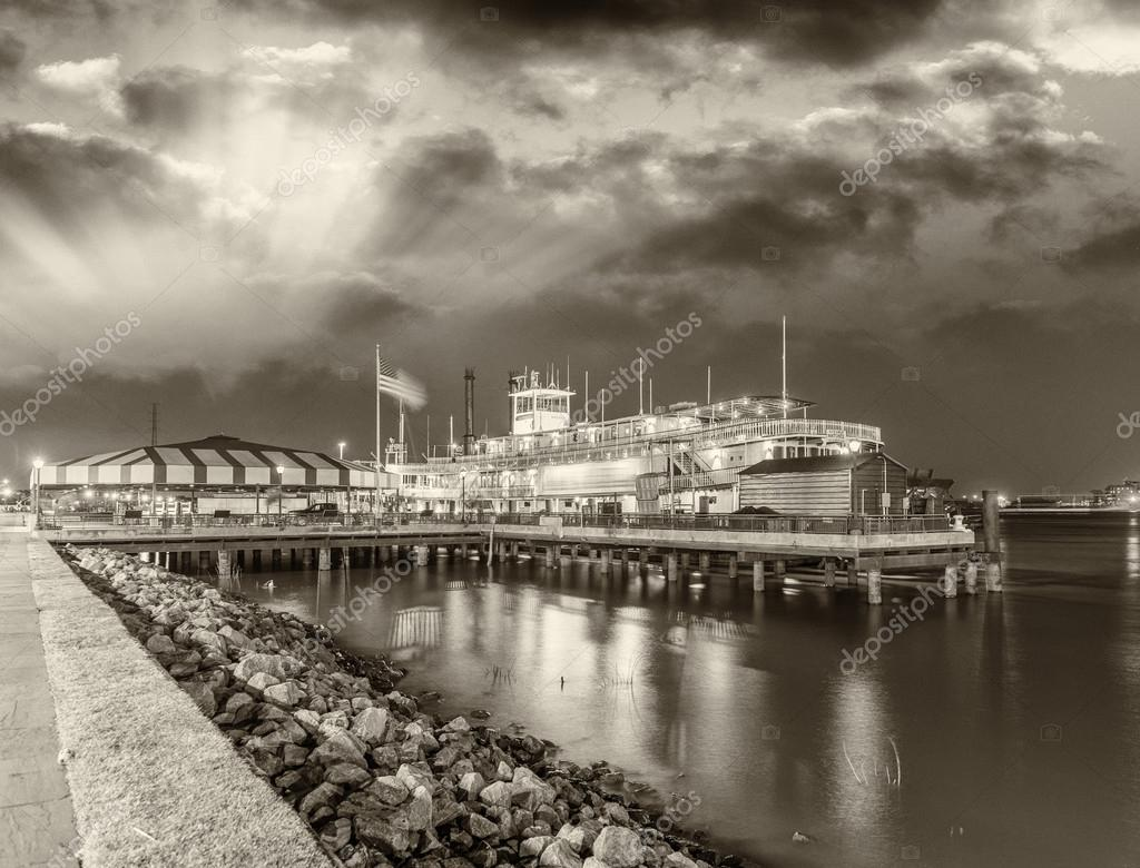 Steamboat on Missouri river in New Orleans