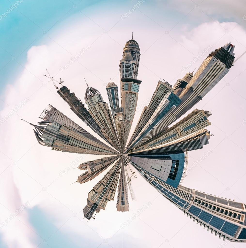 Planet Dubai Marina - Miniature planet of Dubai Marina, with mod