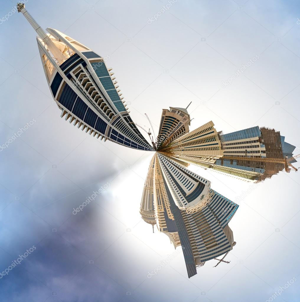 Planet Dubai Marina - Miniature planet of Dubai Marina, with mod