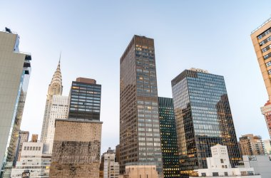 Aerial view of Manhattan skyscrapers - New York City