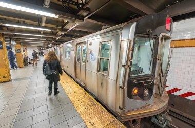 Interior of Manhattan subway station