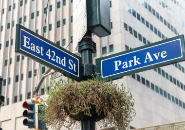 Park Avenue street sign New York