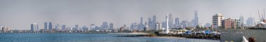 Panoramic view of Melbourne skyline
