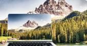 Fotografie Zobrazení tři vrcholy Bosa