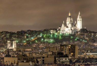 Beautiful view of Montmartre Cathedral, Paris